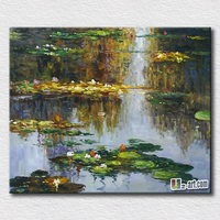 Impression Handpainted Oil Painting Flowers Pictures Painted On Canvas Painting For Office Room Good Symble