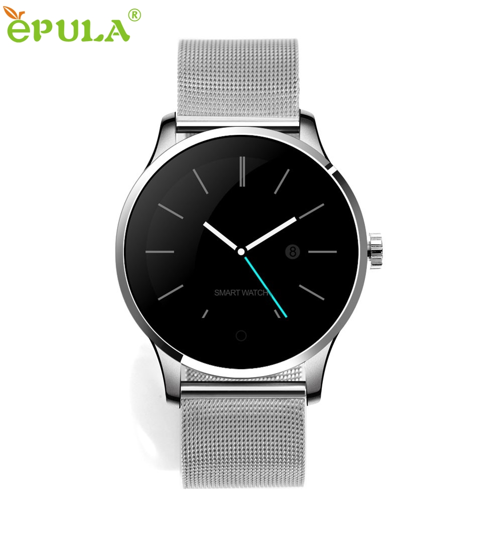 ФОТО Beautiful Gift New  K88H MTK2502C Bluetooth Smart Watch Heart Rate Track Wristwatch Stainless Steel Wholesale price Aug23