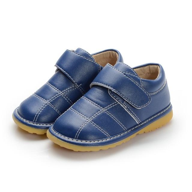 Novo Estilo Primavera Outono Menino Da Criança Sapatilha Sapatos Squeaky Hand-made Sapatos de Couro Antiderrapante Sapatos Frete Grátis
