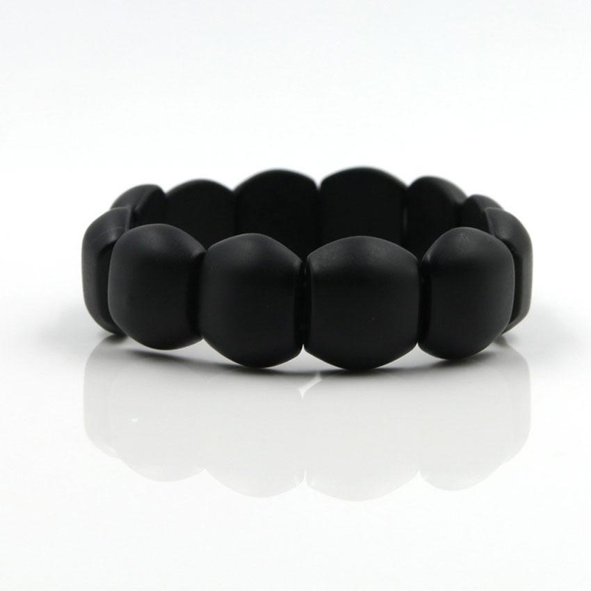 100% Natural Black Bianshi Stone Bracelet Carve Black Jade Bian Shi Si Bin Magnetic Therapy  Health Bracelet For Women And  Men