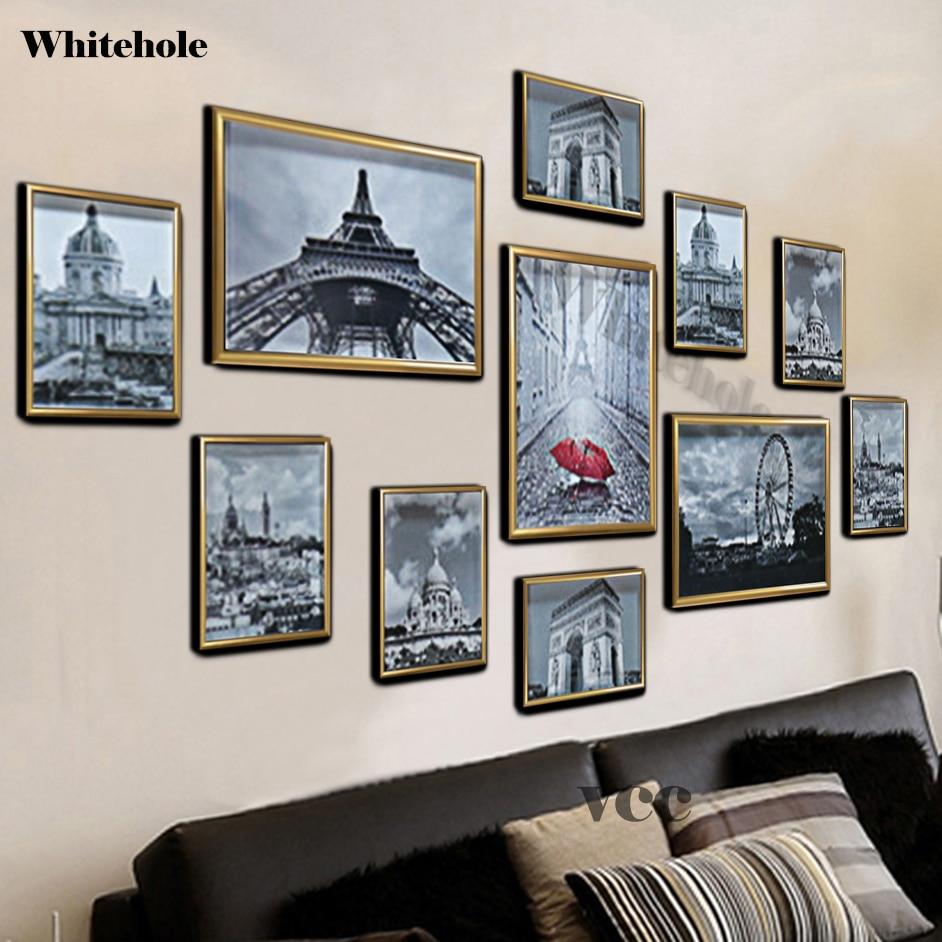 11 pièces Art Mural En Métal Cadre Photo Pour Tenture Murale 7 Pouces A4 En Aluminium Cadre Photo Cadeau Recommandation Décor À La Maison