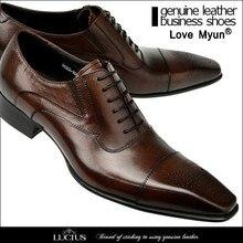 men dress shoes genuine leather black italian fashion busine
