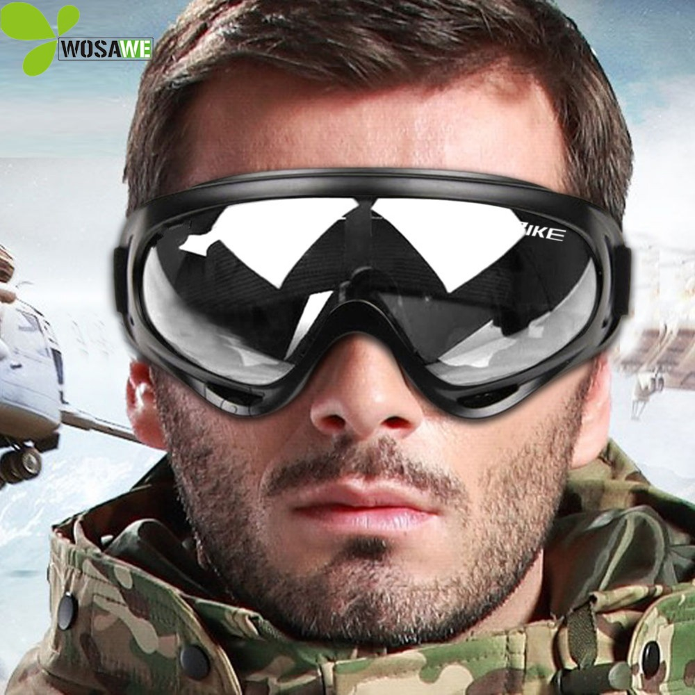 11abc1f0d5 WOSAWE Airsoft Ski Goggles Motorcycle Cycling Bicycle Bike ATV Motocross  Snowboard Off-road Wear Sports Glasses Skiing Eyewear