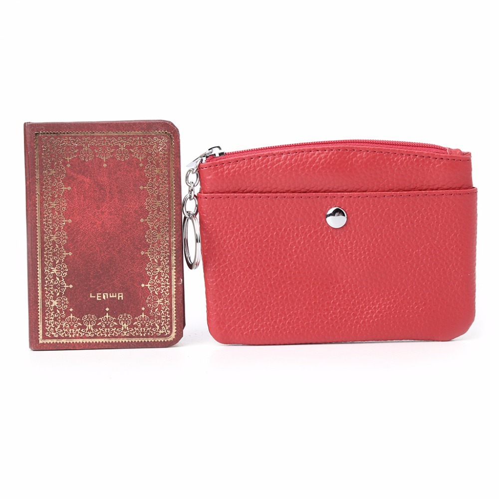 Women Men Coin Card Key Ring Wallet Pouch Mini Purse THINKTHENDO Zipper Small Change Leather Bag genuine leather coin purse sheep leather zipper pouch men women wallet change pocket key chain bag fashion quilted designer
