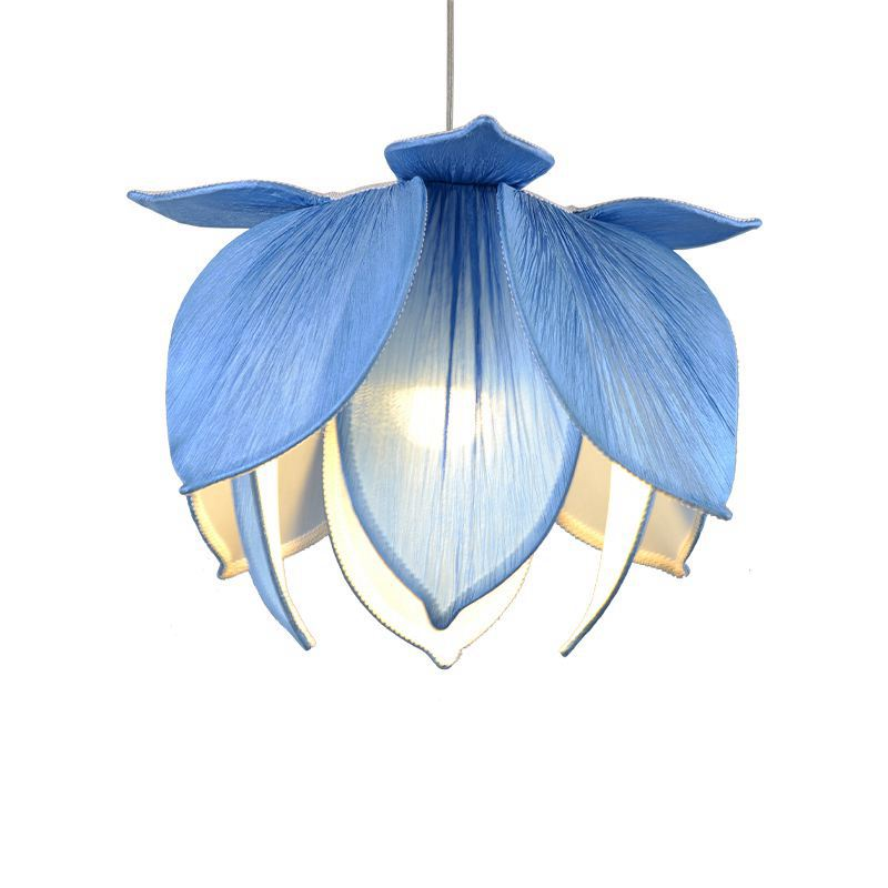 Chinese Style Fabric Lotus Restaurant Pendant Lamp Dining Room Hotel Hanging Lights Tassels Corridor Balcony Pendant Lamp luxurious tail анальная пробка серебристая малая с желтой розой