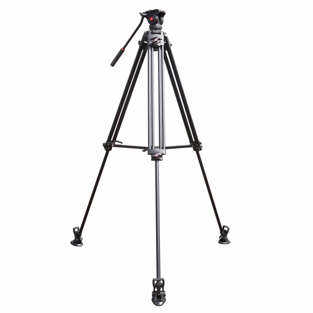 Viltrox VX-18M 74 pouce Professionnel En Aluminium Portable Caméscope Caméra Trépied + Fluide Tête Cylindrique Horsehoe Pour Photo Vidéo Charger 10 kg - 4