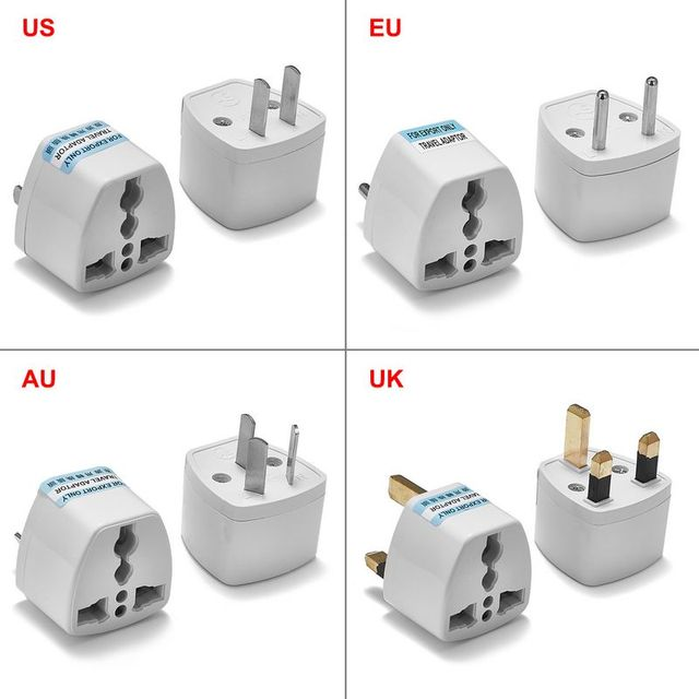 Universal Uk Us Eu Au Plug Adapter American Australian European Travel Ac Charger Converter Socket Electric Outlet