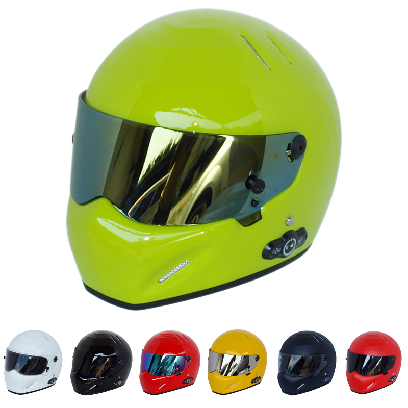 Motorcycle Pilot Predator Full Face Helmet Flip Up ATV Motocross Monster Bluetooth Headset Crash Vespa Casque Downhill Riot Kask