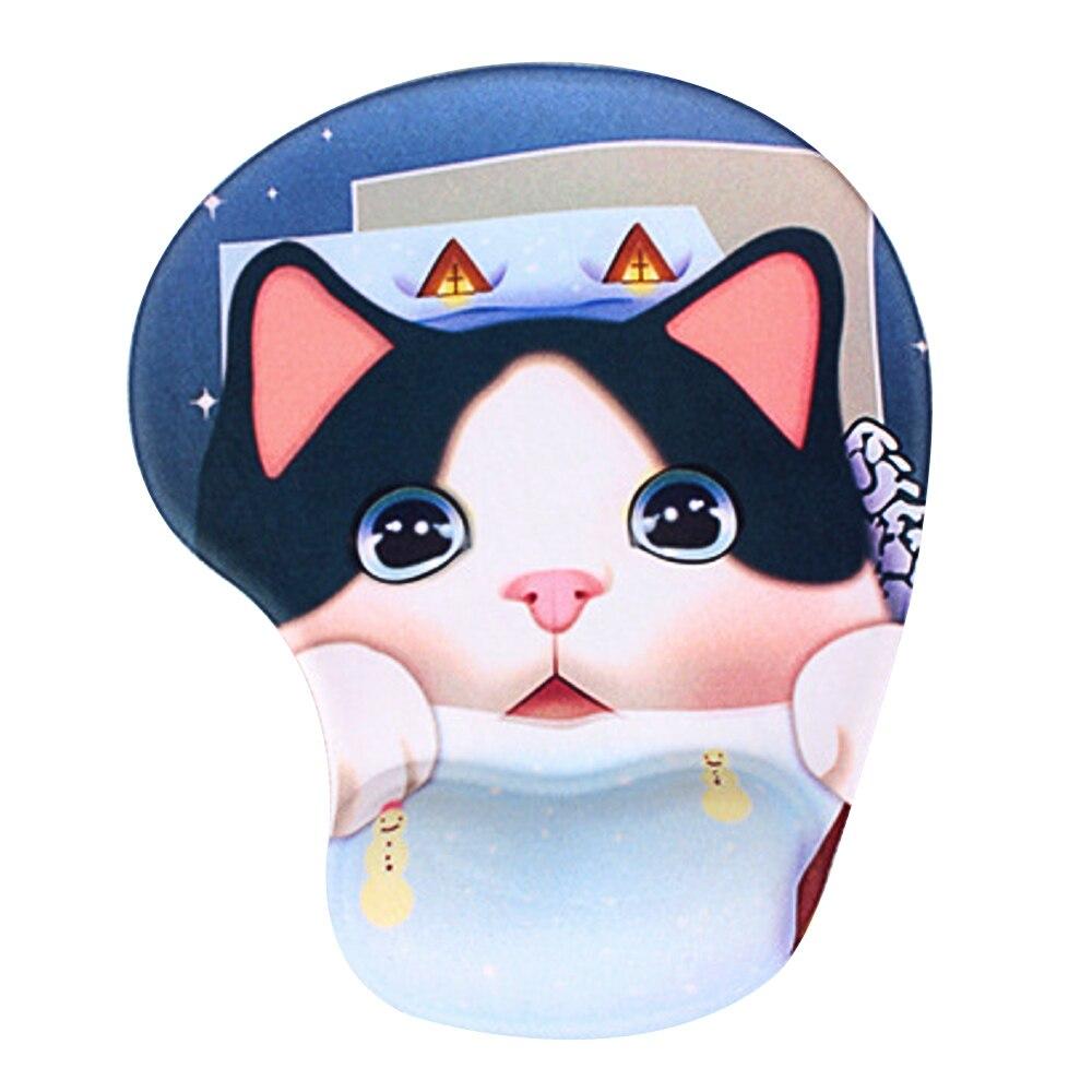 Beli Wrist Dukungan Mouse Pad Kartun Hewan Pola Nyaman Wrist Rest Mouse Mouse Mat Mousepad Dengan Slow Rebound Desain Gaya C Intl Murah