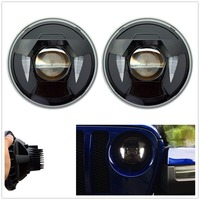 Plug And Play Projector LED Headlight With DRL for 2008 Jeep wrangler JL Sport/Sport S Round Headlamp 2pcs