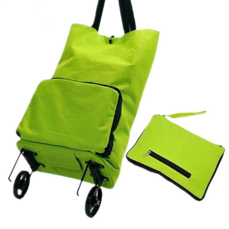 LHLYSGS Brand Women Fashion Trolley Bag Wheels Duffle Luggage Bag Folding Large Capacity Travel Bags Clothes