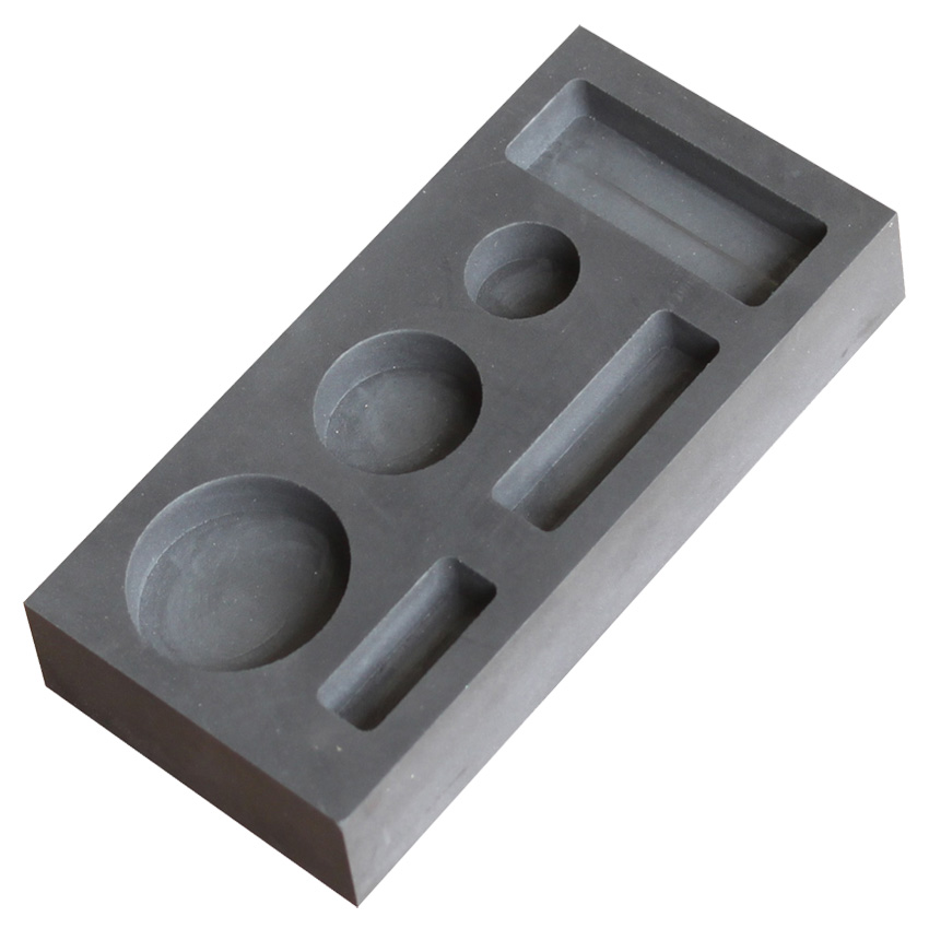 Graphite ingot mold for making gold bar and silver bar jewelry tools