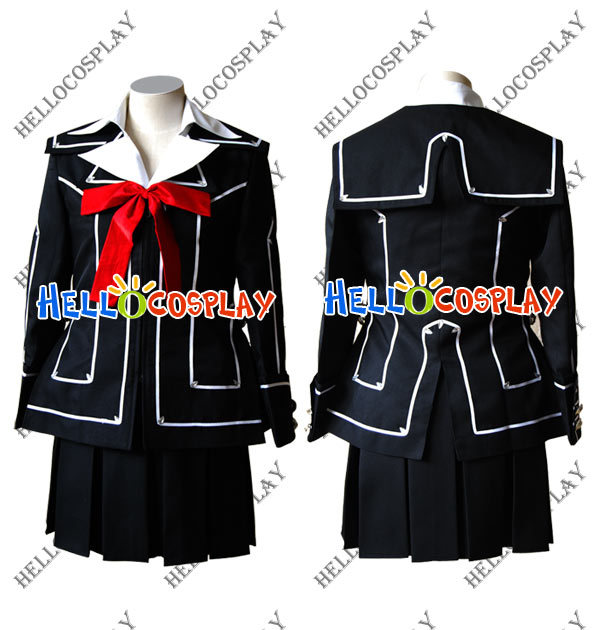 Japanese Anime Outfit Vampire Knight Day Class Girl Kurosu Yuuki Cosplay Costume H008