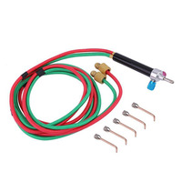 Micro Mini Welding Gas Little Torch Set With 5 Tips Jewelry Welding Soldering Cutting Tools Kit
