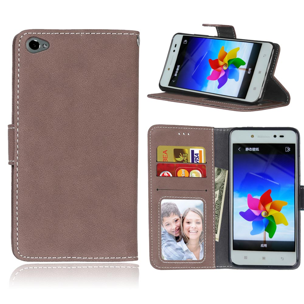 Retro Matte Leather <font><b>Case</b></font> <font><b>For</b></font> <font><b>Lenovo</b></font> <font><b>S90</b></font> Cover Filp Stand Classical PU Wallet Photo frame Card slot Mobile Phone Bags image