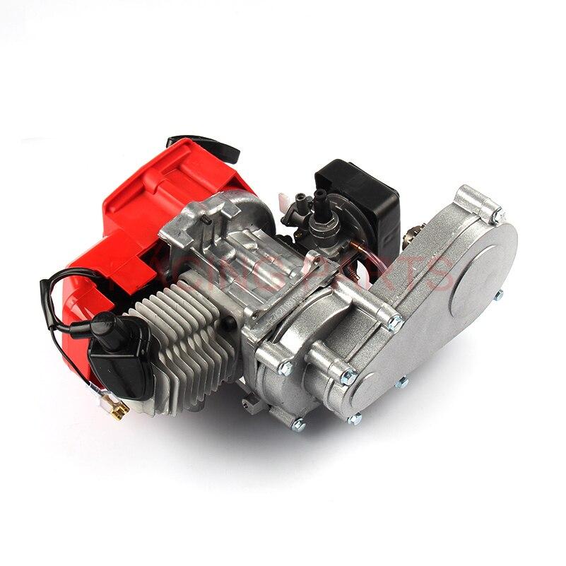 ביצועים גבוהים 49CC 2 שבץ מנוע מנוע עם T8F 14 t הילוך תיבת קל להתחיל כיס אופני עפר מיני אופני מנוע DIY מנוע