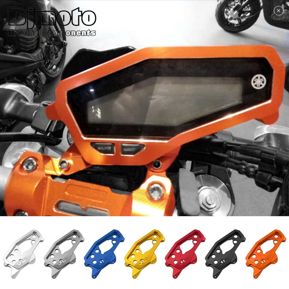 BJMOTO Motorcycle CNC Aluminum Gauges Cover Case For Yamaha MT09 2014-2018 Housing Speedometer Tachometer Instrument new piece motorcycle gauges cover case housing speedometer for bmw s1000rr 2009