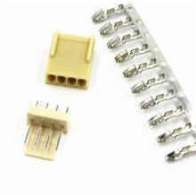 10sets KF2510 4Pin Connector Kits 2.54mm Male Pin Header+Terminal+Female Terminal Housing Pin Header Connectors Adaptor Kits 50sets kf2510 6pin connector kit pitch 2 54mm right angle pin header terminal housing