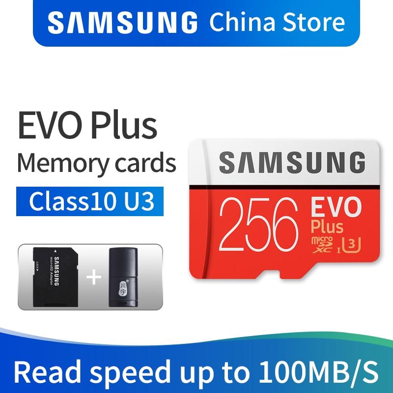 цена на SAMSUNG EVO PLUS 256GB 128GB 64GB 32GB sdhc CLASS10 carte Micro SD Memory Card UHS-I U3 TF SD Cards Flash SDXC free shipping