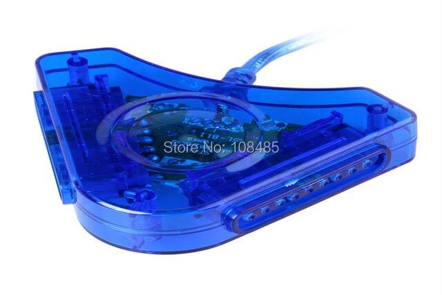 Adaptador para PS1/PS2 Playstation 1 2 Para PC Jogo USB 2 Conversor Controlador Gamepads Dupla Almofadas