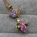 AAA CZ noble pendant for women fine jewelry water drop fully-jewelled fashion design hot sale jinyao
