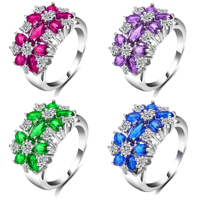 Explosions Fashion Jewelry Couple Ring Zircon Ring