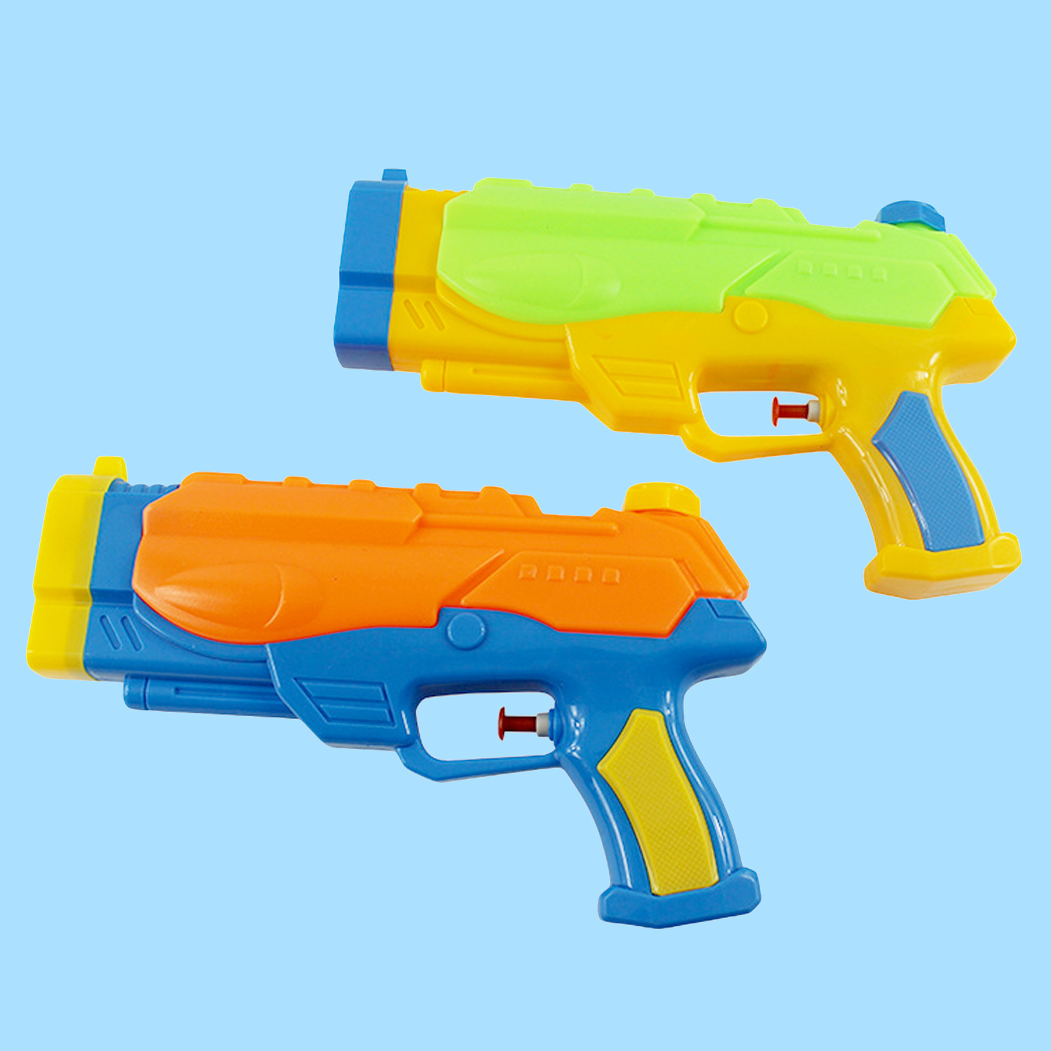 Besegad 2 PCS Hot Summer Super Soaker Water Guns Child Beach Big Water Gun Toys Sports Game Shooting Toy Random Color