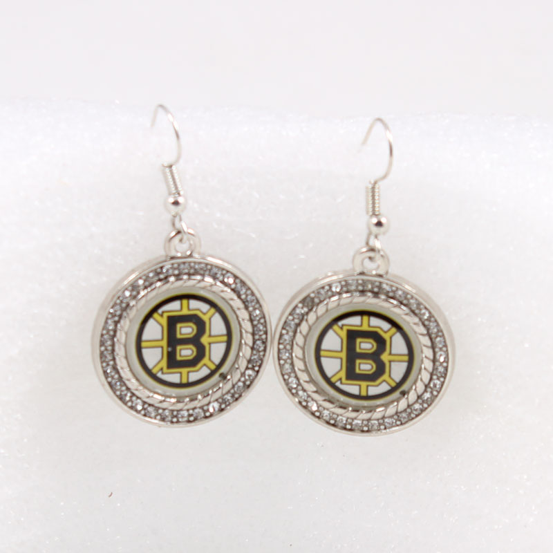 NHL Earrings Boston Bruins Drop Earrings Jewelry Earrings Ice hockey team Charm Earrings For Fans