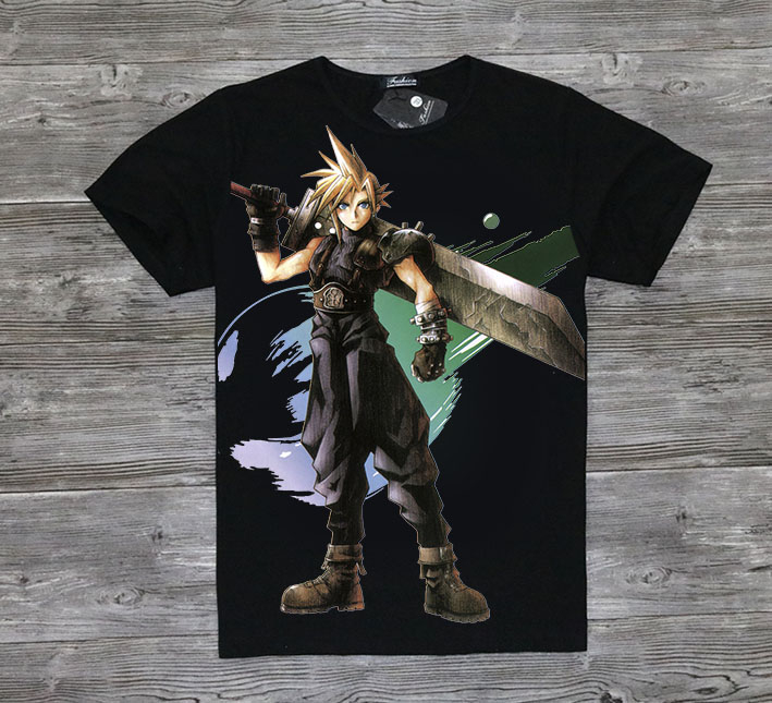 Game Final Fantasy Series T-Shirt Full Print Final Fantasy FF T Shirt Tees Top image