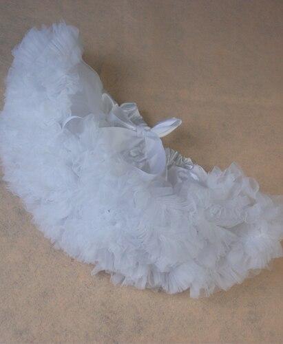 Пышная юбка для малышей Мягкая шифоновая Пышная юбка-пачка для малышей Юбка-пачка для маленьких девочек детская одежда юбка-пачка для новорожденных - Цвет: Белый