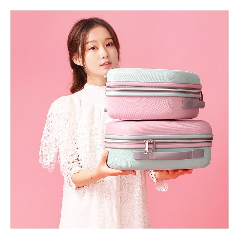 여자 가방 패션 라이트 가방 13 인치 미니 지퍼 레이디 비즈니스 abs 화장품 가방 가방 메이크업 가방 세면 용품 가방-에서코스메틱 백 & 케이스부터 수화물 & 가방 의  그룹 2
