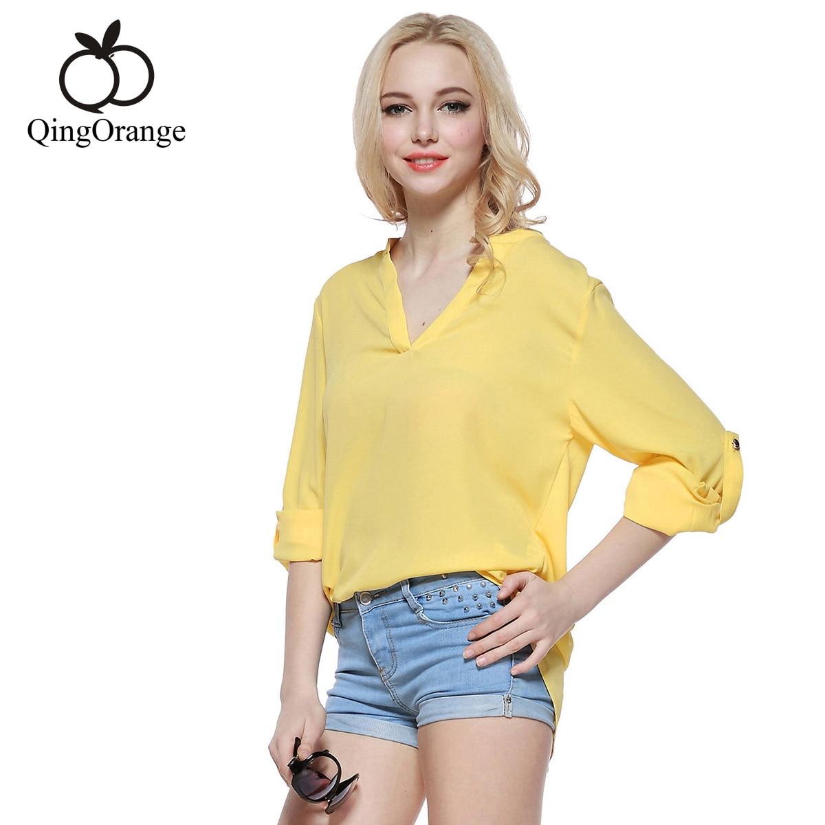 Compra blusas amarillas online al por mayor de China
