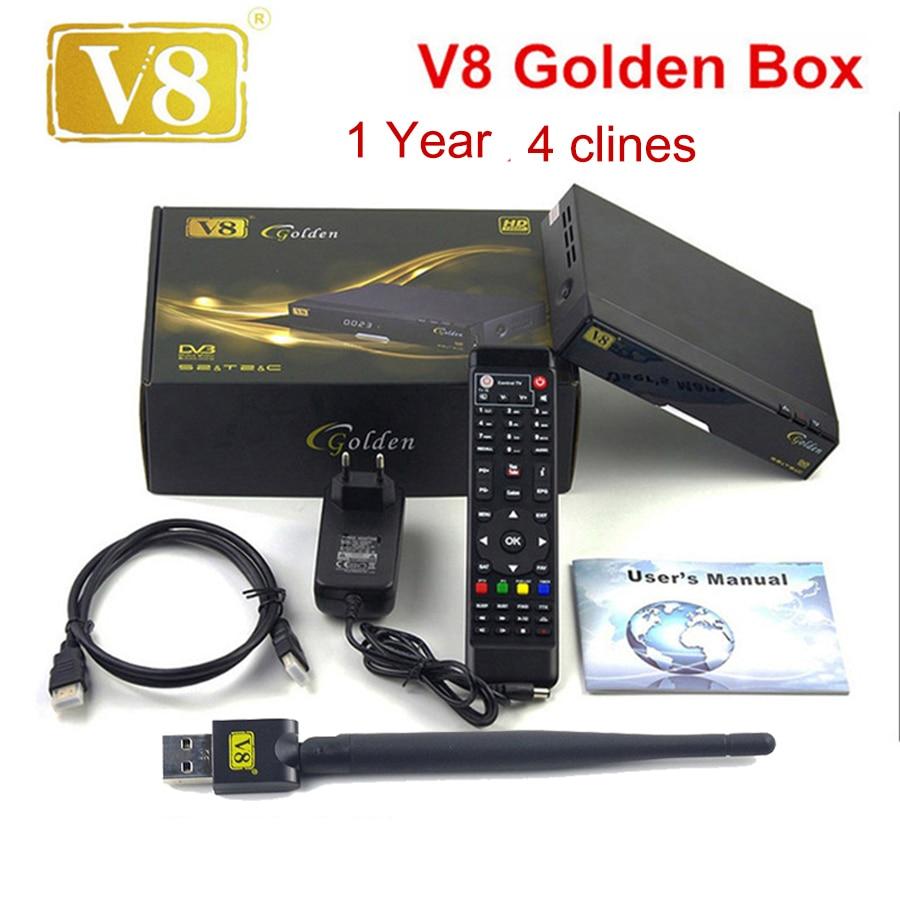 Openbox V8 Golden DVB-S2/ DVB-T2 DVB-C Receptor satellite Decoder with 1 year Europe cline Cline 1 USB WIFI set top box PK V7 HD доска для объявлений dz 1 2 j8b [6 ] jndx 8 s b