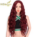 AISI BEAUTY 30 Synthetic Long Wavy Wigs for Women Mixed Blond Wig Heat Resistant Kinky Curly Hair Natural Hair Free Hairnet