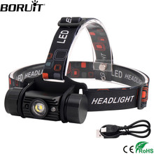 Headlamp Head-Torch Hunting-Flashlight Boruit Motion-Sensor Rechargeable 1000LM Camping