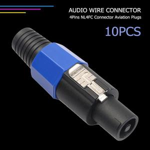 Image 3 - 10pcs 4 Pole NL4FC 4Pin Connector Plug Speaker Audio Ohm Female Socket Plug Support Dropshipping