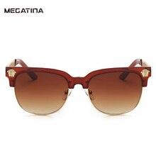 Megatina Retro gafas de Sol Mujeres Hombres Diseñador de la Marca de Metal Hueco Creativo Marco grabado Ronda Shades gafas de sol mujer KS7239