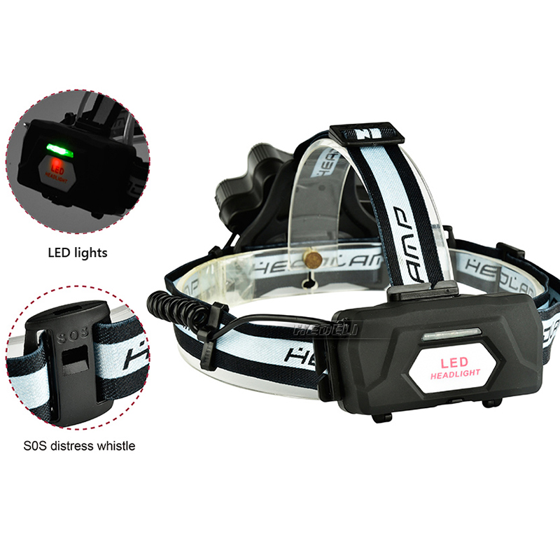 USB headlight linternas frontales cabeza headlamp torch head light flashlight 18650 camping waterproof lanterna with SOS Whistle