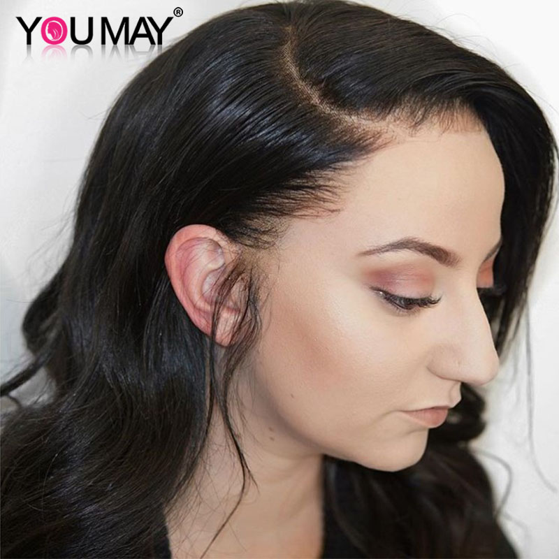 Transparent Full Lace Wigs With Baby Hair 180 Density Body Wave Brazilian Full Lace Human Hair Wigs For Women You May Remy Hair
