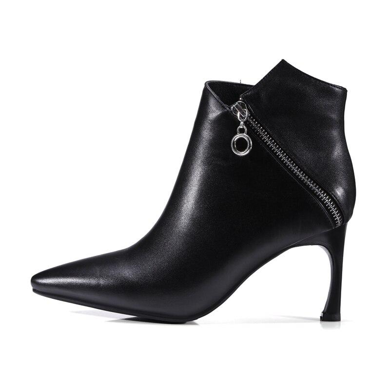 2017 Nouvelle D'hiver Pointu En Bottes Superstar Femmes Chaussures Véritable Latérale Glissière Beige Cuir Arrivée Bout Patchwork Vangull noir Cheville qUpzMVSG