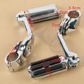 """1.25"""" Highway Foot Pegs Long Mounts Crash Engine Guard Bar For Harley Davidson Yamaha Kawasaki Suzuki Honda"""