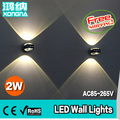 Free Shipping 2W LED Crystal Wall Lamp AC85~65V 2 Years Warranty CE & RoHS