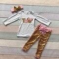 Niñas bebés ropa de boutique de ropa de los niños trajes de dos años de edad cumpleaños rosa minnie ropa de lentejuelas boutique con diadema