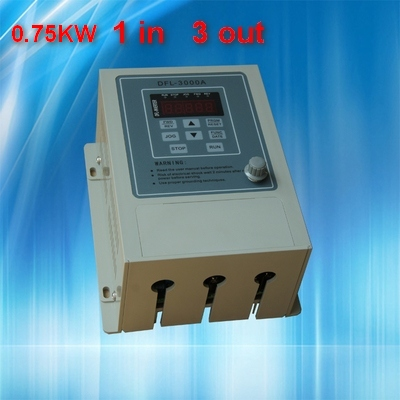 0.75KW inverter  VFD  220V  VARIABLE FREQUENCY DRIVE INVERTER  1 phase input  3 phase output 220v  ac motor vsd frequency inverter ac drive vfd 220v 2 2kw single phase input and 220v 3 phase output