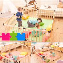 Baby Safe Play Fence Indoor Wooden Paint-free Baby Crawling Toddler Guardrail Child Safety Fence Baby Playpen Fence