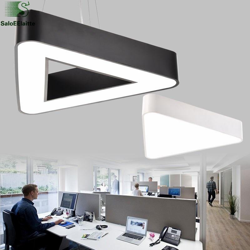Moderní Metal Tri Led Závěsné světlo Minimalismus Bílá Černá Závěsná svítidla Luminaria Lampares LED Závěsné světlo Závěsná lampa