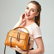 2016 Hot Genuine Leather Luxury Brand Women Handbags Famous Desinger Doctor Bags Fashion Shoulder Crossbody Bags For Women