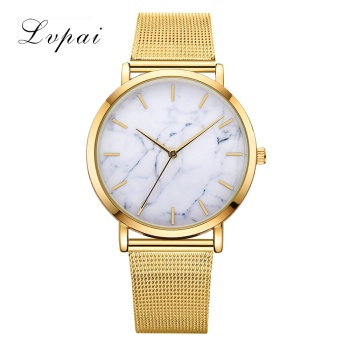 Lvpai Brand 2017 Luxury Women Gold Watch Fashion Bracelet Dress Watch Quartz Wristwatch Ladies Casual Sport Business Watch