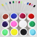 UV Gel Nail Polish Pure Color 12pcs Bling Gelpolish Paint For Nails Art Vernis Professional Vogue Unha Varnish Lac Print 730