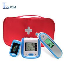 Loodom OLED Pulse Oximeters Baby Thermometer Wrist Blood Pressure Monitor Thermometr Oximetro De Dedo Blood pressure gift bag стоимость